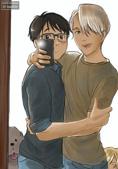 "Yurio in the corner like ""disgusting!"" Hahahhaha"
