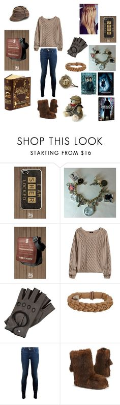 """""""Sherlock Holmes Day"""" by directioner4life913 ❤ liked on Polyvore featuring H&M, Roeckl, Roarke, Mother and Ruby + Ed"""
