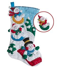 Just released (July 2017) Bucilla felt stocking kit. MerryStockings is the first to have it! Get started on your stocking kit for Christmas 2017!