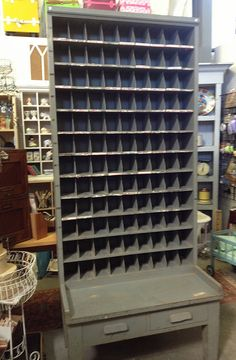 Post office sorter with 108 cubbies, sold at Lakewood Antique Market. (I wanted to keep it soooo badly, but couldn't find a place for it.