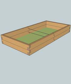 Stredne veľký vyvýšený záhon s rozmermi 1 x 2 x 0,24 m. Spoľahlivo v ňom môžeme pestovať prakticky všetky druhy zeleniny.