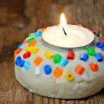 Salt Dough Votive - Quick and Easy! - a quick and easy Diwali Lantern for kids to make. Love the cheerful colours and easy of this Salt Dough project for Diwali Kids Crafts, Christmas Crafts For Kids, Christmas Activities, Toddler Crafts, Simple Christmas, Art Crafts, Christmas Photos, Xmas, Stick Crafts