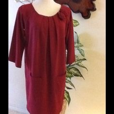 "Newport News"""" Gorgeous Maroon Loose Dress"