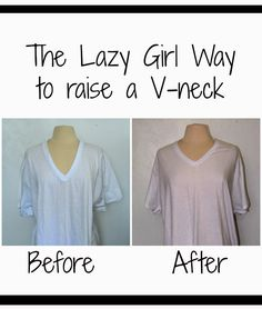 Tutorial on a super quick way to raise a neckline that is too low.  It only takes one dart!