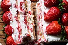 Strawberries & Cream Icebox Cake {Mind Over Batter}