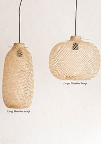 Bamboo pendant light - LARGE