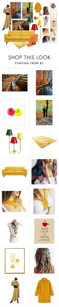 """""""autumn"""" by gonulk ❤ liked on Polyvore featuring interior, interiors, interior design, home, home decor, interior decorating, Fountain, WALL, Cyan Design and Dot & Bo"""