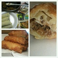 Philly Cheese Steak Egg Rolls - Cook philly steak + seasoning + onions/peppers. put provolone on egg roll wrap, then meat and roll. Follow instructions on egg roll package. Dip your finger in water then press the last corner onto egg roll. Place in oil that corner down so it will stay attached to egg roll and not open up. EASY