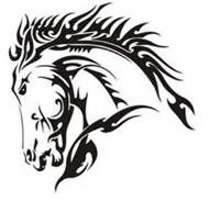 tribal horse tattoos google search tribal pinterest tribal rh pinterest com tribal horse tattoo meaning tribal horse tattoo stencil