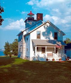 Old Sodus Point #Lighthouse - Sodus Point is a village located in Wayne County, New York #photography #travel