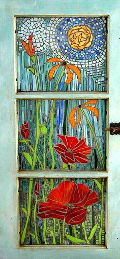 "Cabinet door - ""Poppy"" by jabberwockyartworks, via Flickr"
