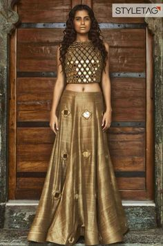 Pretty golden lehnga