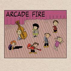 Arcade Fire. Peanuts. Charlie Brown.