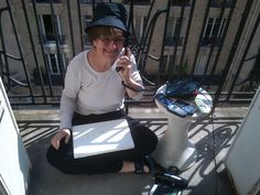 Au boulot #therese ! #call #paris #sun  http://www.pixtory.fr/vous-connaissez-therese/