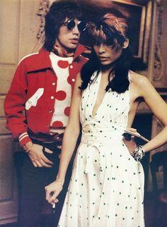 MIck and Bianca Jagger www.fashion.net/