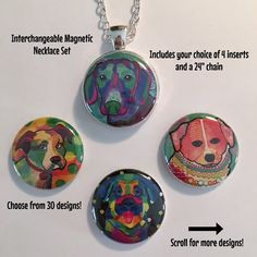 Interchangeable Magnetic Dog Necklace or by BellyLaughButtons