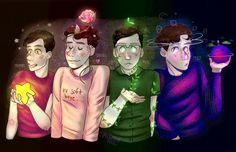 Amazing!!! And ooo I know this one okay so we have Thomas, Dan, Phil and Pj
