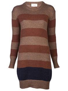 $462 GIADA FORTE Striped Dress