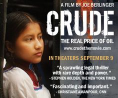 """The inside story of the infamous """"Amazon Chernobyl"""" case, Crude is a real-life high stakes legal drama, set against a backdrop of the environmental movement, global politics, celebrity activism, human rights advocacy, the media, multinational corporate power, and rapidly-disappearing indigenous cultures."""