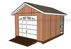 Shed Plans with Garage Door Plans
