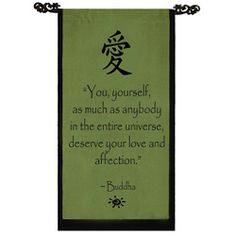 Cotton Love Symbol and Buddha Quote Scroll (Indonesia) | Overstock™ Shopping - The Best Prices on Tapestries