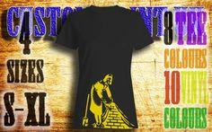 Womens Banksy maid vinyl press Tshirt sizes s-xl by customprintuk