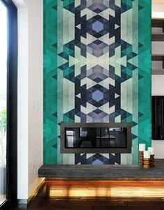 Impress your guests by adding a removable wallpaper to any room in your home.