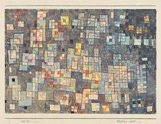Paul Klee - Glashäuser viertel, 1927, watercolor...