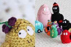Virka familjen Barbapapa, gratis virkmönster is my swedish up to the task of translating this pattern, fingers crossed Crochet Amigurumi, Crochet Dolls, Crochet Yarn, Crochet Gifts, Cute Crochet, Crochet For Kids, Sewing Patterns For Kids, Sewing For Kids, Crochet Patterns