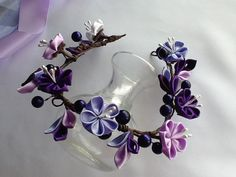 Flower Crown Lavender Purple Light Purple by LihiniCreations