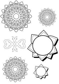 Free Coloring/Painting Pages: 2 Geometric Designs