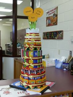"""An AMAZING back to school """"supplies cake""""!  It would take a lot of work, but as a teacher, this is the ULTIMATE gift!!!"""
