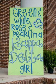 "Kappa Delta's 2012 Bid Day!! » Jessica Magee Studios  or make it say "" crimson, gold, green and pearl - i'm an ASA girl"
