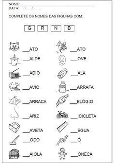 Build Your Brazilian Portuguese Vocabulary Learn Brazilian Portuguese, Portuguese Lessons, Portuguese Language, Vocabulary, Literacy, Worksheets, Teaching, How To Plan, Alice