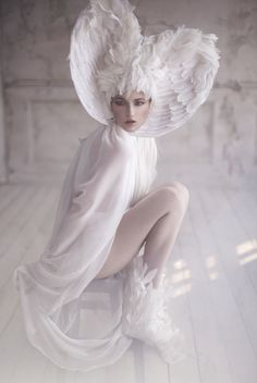The Snow Bird by Lelya Martian, via Behance ~White Splendour~