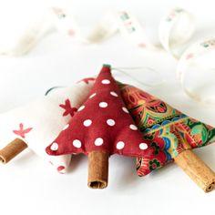 cinnamon christmas tree decorations mixed set of 3 folksy craftjuice handmade social network