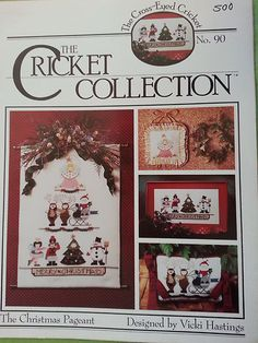 Cricket Collection: The Christmas Pageant Cross Stitch Pattern Book FREE SHIPPIN