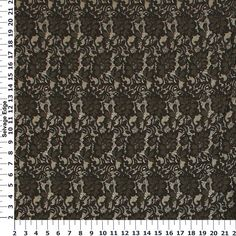 Black Floral Lace Jacquard Gold Fabric