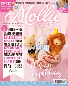 Mollie Makes combines fresh trend-led projects with a range of crafts from sewing to crochet, all expertly curated by the most influential designer-makers. Mollie Makes, Crochet Books, Love Crochet, Denim Pinafore, Crochet Mermaid, Craft Online, Crochet Magazine, Craft Gifts, Arts And Crafts