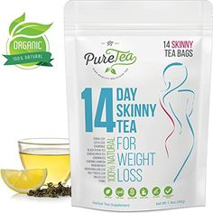 PureTea Skinny Tea - Weight Loss Tea Detox Tea Lose Weight Fast Body Cleanse Reduce Bloating Suppress Appetite Weight Loss Tea For Women Teatox Green Diet Tea Day) Detox Tee, Detox Tea Diet, Body Detox Cleanse, Healthy Cleanse, Cleanse Recipes, Tea Recipes, Detox Diets, Healthy Drinks, Weight Loss Tea