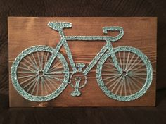 Bicycle String Art, Bike, Cycling - order from KiwiStrings on Etsy! www.KiwiStrings.etsy.com