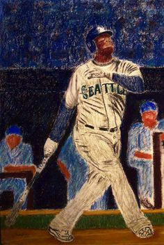 The Kid feat Ken Griffey Jr Art Print by D Rogale. All prints are professionally printed, packaged, and shipped within 3 - 4 business days. Baseball Painting, Baseball Art, Canvas Art, Canvas Prints, Art Prints, Baseball Wallpaper, Jr Art, Ken Griffey, Thing 1