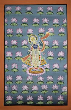 Buy Pichwai Painting painting online - the original artwork by artist Unknown Artist, exclusively available at Mojarto only. Pichwai Paintings, Indian Art Paintings, Mural Painting, Art Pass, Indian Folk Art, Krishna Painting, Inspirational Wall Art, Online Painting, Traditional Art