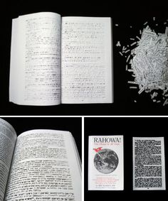 In her series 'Between the Lines', artist Ariana Boussard-Reifel has cut each and every word out of the pages of books, leaving behind only the white space, creating patterns that render the books meaningless – or do they?
