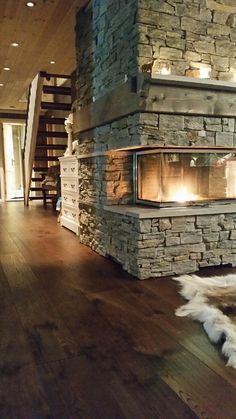 Visio 3 in a cabin in Norway - we love the atmosphere surrounding the stove #Rais #Cozy #Decoratio