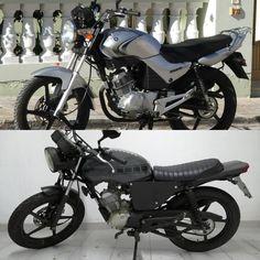 Before and after... Yamaha YBR 125.   #caferacer #yamahaybr125 #gomezcustomworks #custombike  #