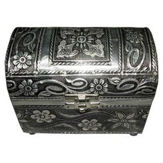 antique pewter type box/trunk