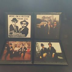 The Blues Brothers a new ceramic tile coaster set that was requested by a customer has now been added to our store and is available to ship www.thecoastalworkshop.etsy.com