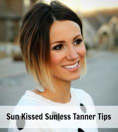 sun kissed sunless tanner tips