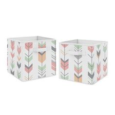 Sweet Jojo Designs Arrow Fabric Bins Color: Mint/Gray #FabricScissors Fabric Storage Bins, Fabric Bins, Cube Storage, Fabric Scraps, Fabric Basket, Scrap Fabric, Chenille Fabric, Quilting Fabric, Drapery Fabric